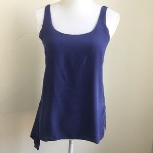 Club Monaco Blue Silk Blouse Tank Top Tunic